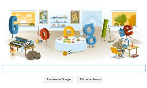 bonne année 2013 google