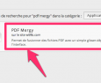 Chrome : l'application PDF MERGY