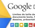 Stockage et limite des docs Google.