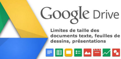 Google Drive limite taille fichiers