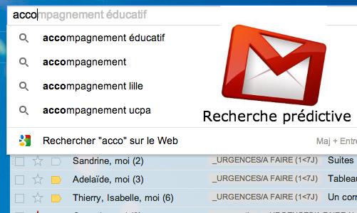 gmail recherche prédictive
