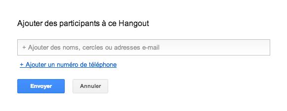 hangout téléphone appel