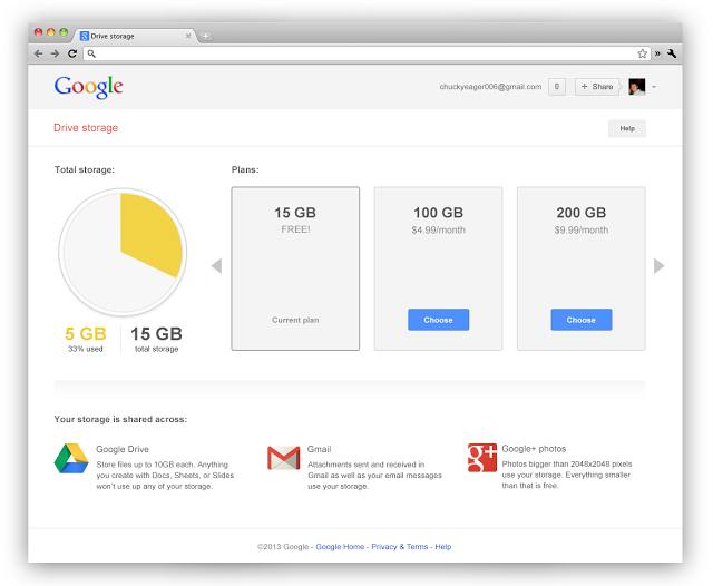 fusion stockage gmail