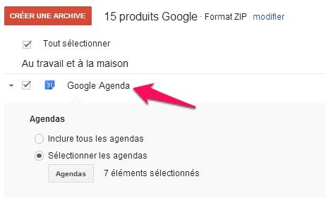 google agenda takeout