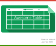Présentation d'Awesome Table