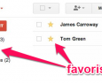 Google contacts : les favoris sont dispos