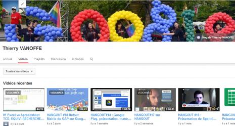 Chaîne Youtube de Thierry VANOFFE