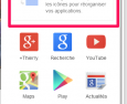 Personnalisation du lanceur d'applications.