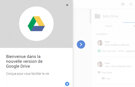 nouvelle interface de google drive