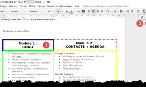 Style de bordure des cellules des tableaux dans Google Docs