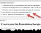 2 nouveautés pour les formulaires Google.
