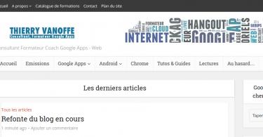 Le site de Thierry VANOFFE  consultant et formateur GOOGLE.