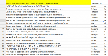 Gsheet   Traduction automatique en 24 langues   Google Sheets