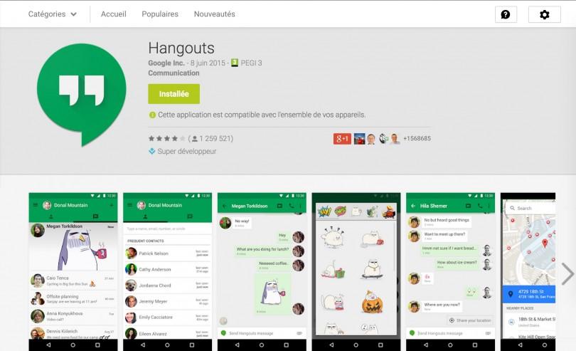 Hangouts google téléchargement