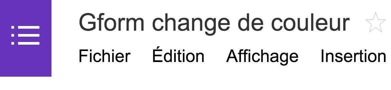 gform change de couleur