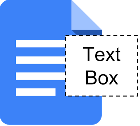 Insertion de zones de texte dans Google Docs