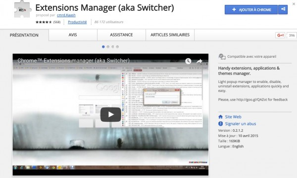 Extension Chrome : Aka Switcher