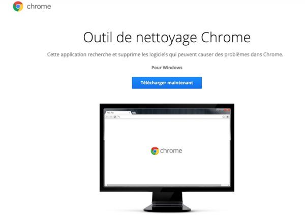 Outil de nettoyage Chrome (pour Windows)