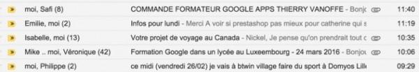 Gmail : le mode conversation