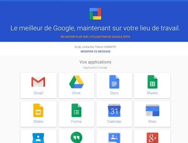 Google Apps : le Hub utilisateur