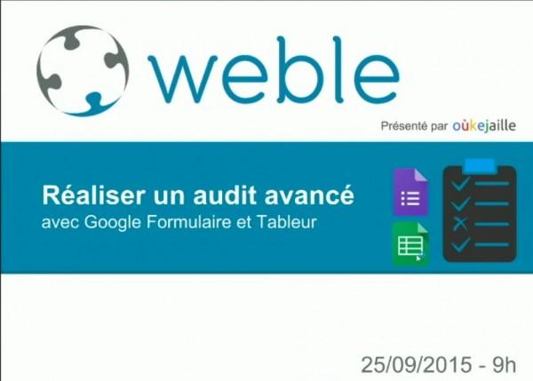 Réaliser un audit fournisseur avec Google Forms