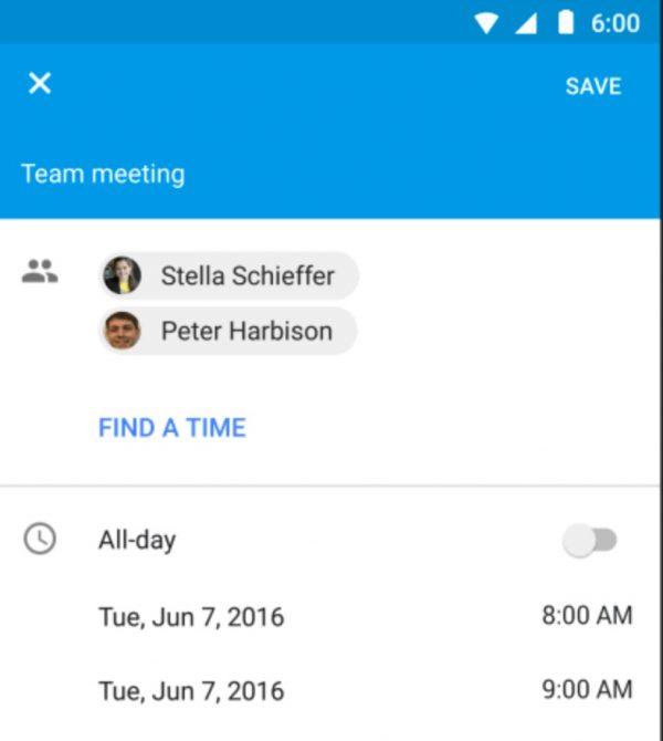 Google Agenda détecte le meilleur moment pour vous réunir