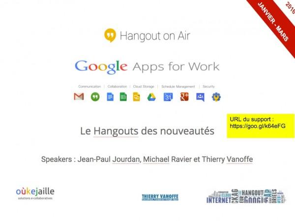 Les news Google Apps de janvier à mars 2016