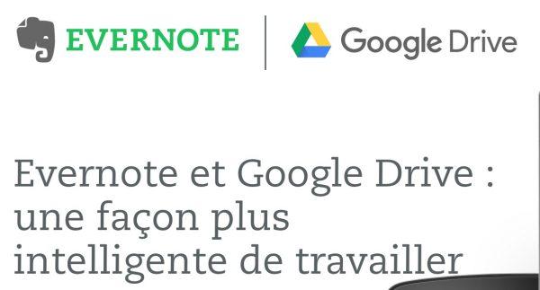 Evernote et Google Drive bénéficient d'une connexion renforcée