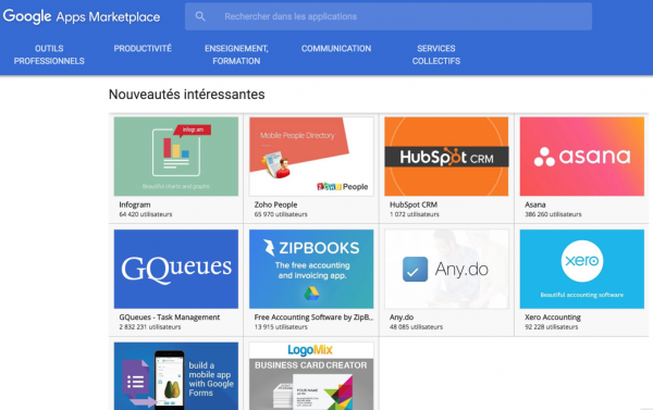 Des news dans la Google Apps Marketplace