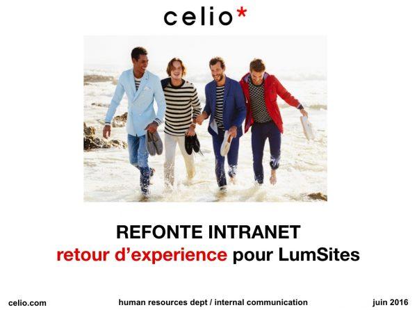 Retour d'expérience Lumsites chez Celio