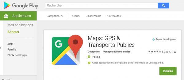 Android : Google Maps sur sa carte SD