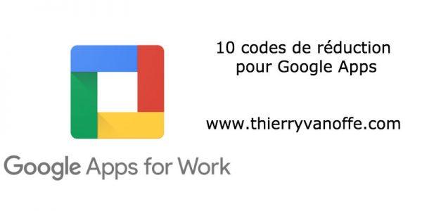 Google Apps : des codes de réduction pour les futurs clients.
