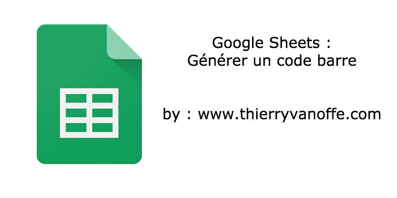 code barre google sheets