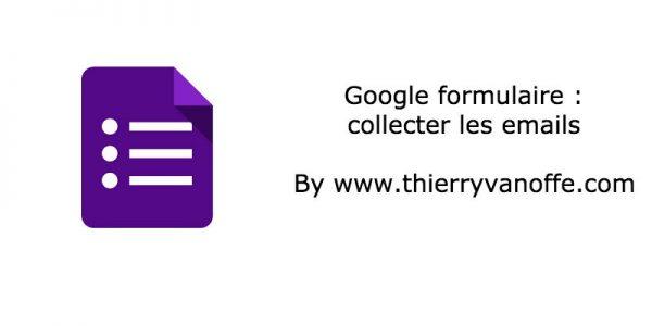 Gform : collecter les emails