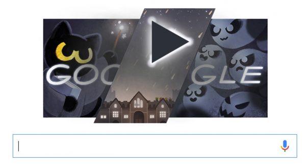 Google : le Doodle d'Halloween