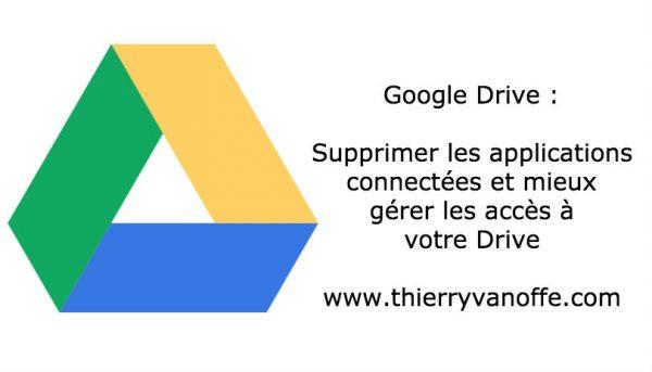 Google Drive : gérer les applications et autorisations