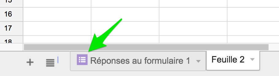 Reponses formulaire