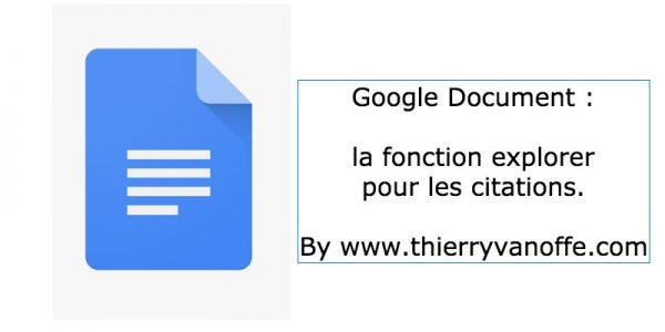 Google Documents : fonction explorer