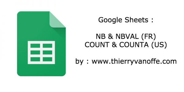 Google Tableur : Nb et Nbval (Count et Counta)
