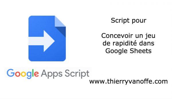 Google Apps Script : faire un jeu de rapidité