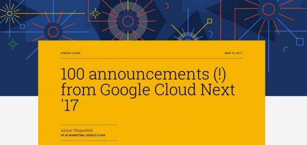 Next : 100 annonces lors de la conférence de Google.