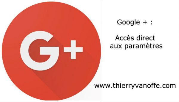 G+ : accès direct aux paramètres