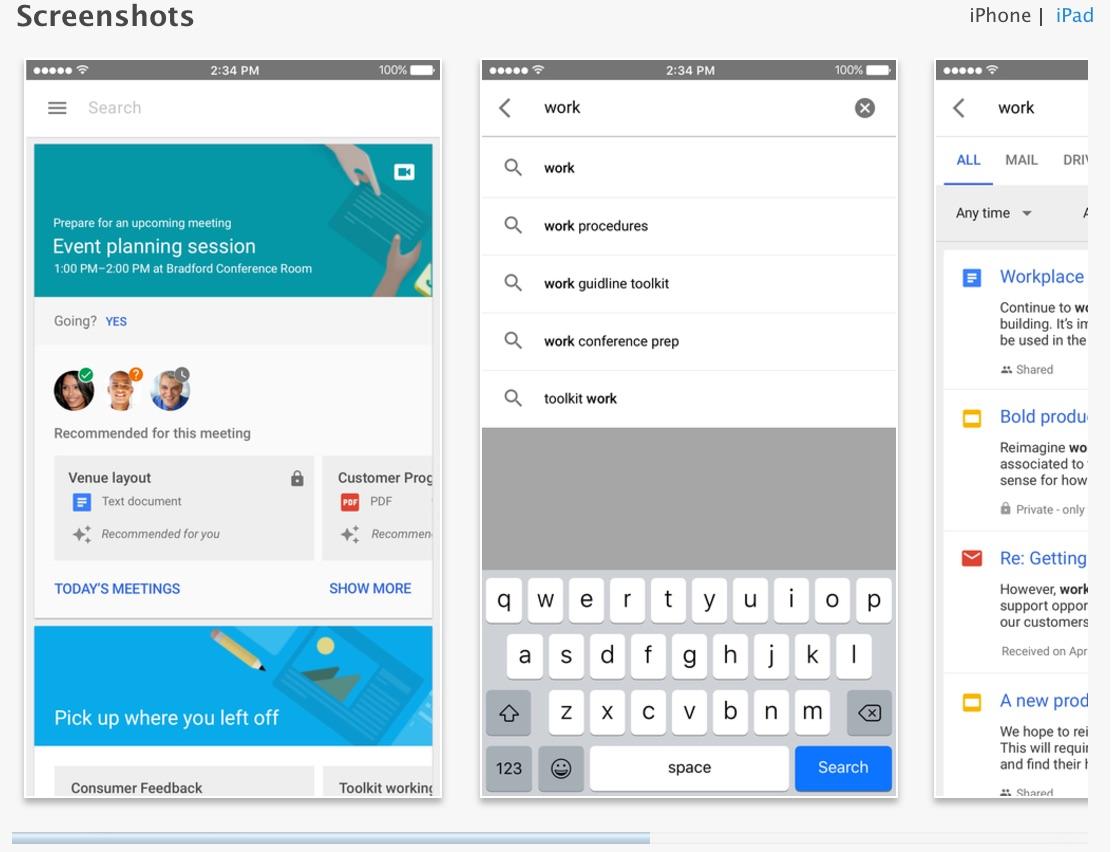 sur l app store et effectuer des recherches dans vos applications g ...