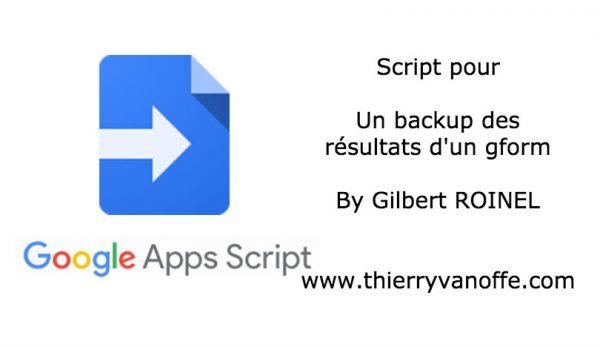 Script : backup des résultats d'un gform