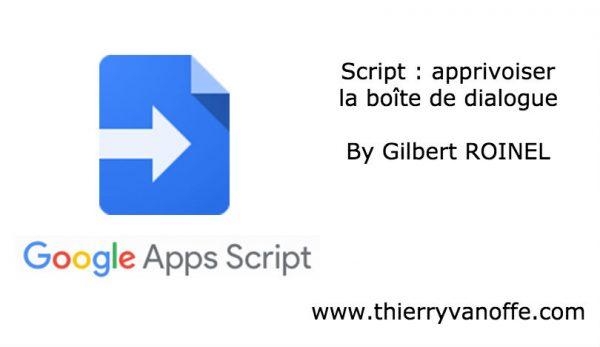 Script : apprivoiser la boîte de dialogue