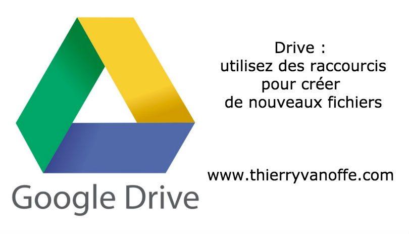 drive   utilisez des raccourcis pour cr u00e9er de nouveaux