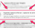 Extension Chrome : « superbe capture d'écran »