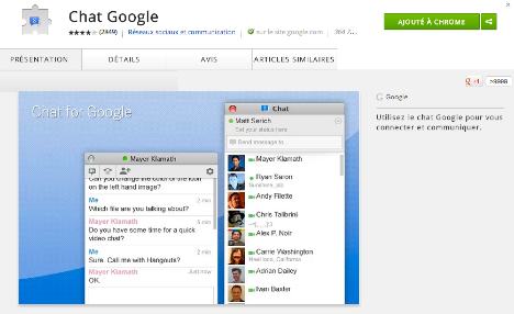 chrome, chat for google