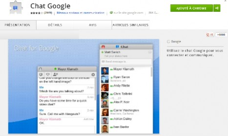 CHROME : Extension Chat for Google