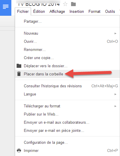 Google drive supprimer
